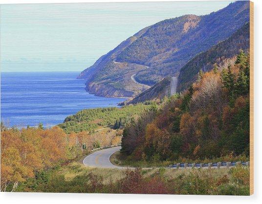 Cabot Trail, Cape Breton, Nova Scotia Wood Print