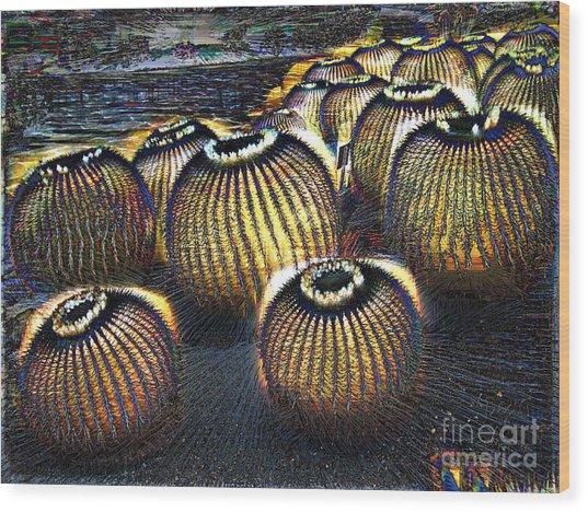Cacto Lanterns Wood Print