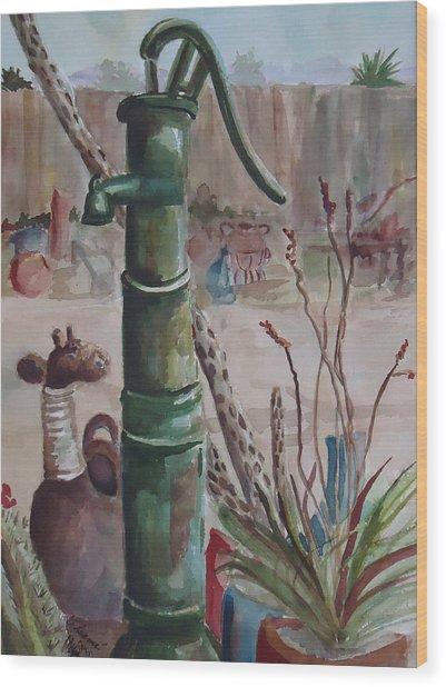 Cactus Joes' Pump Wood Print