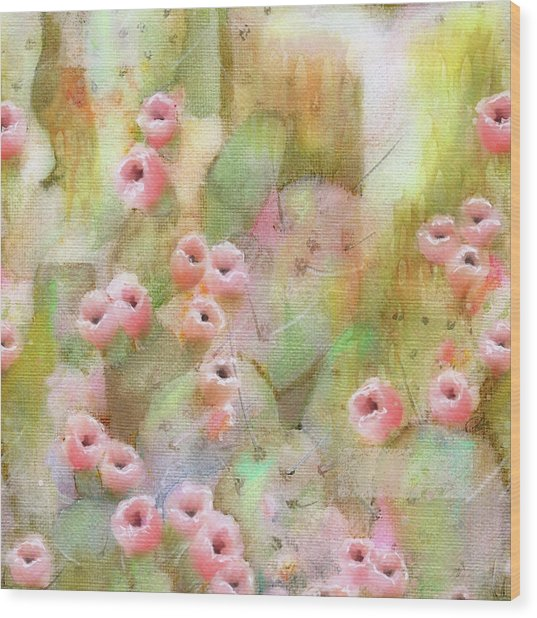 Cactus Rose Wood Print