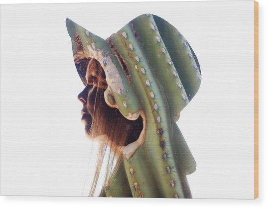 Cactus Suit Of Armor Wood Print