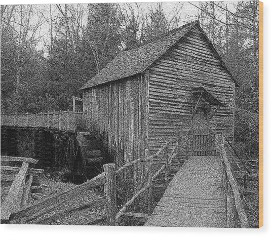 Cades Cove Grist Mill In Cades Cove Wood Print by Steve Carpenter