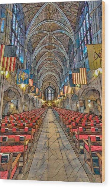 Wood Print featuring the photograph Cadet Chapel Remix by Dan McManus