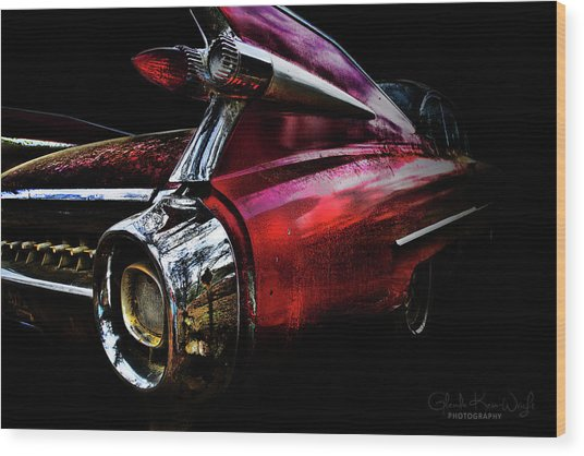 Cadillac Lines Wood Print