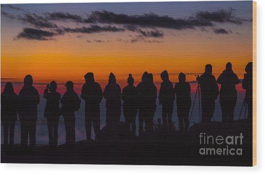 Cadillac Mountain Sunset.  Wood Print