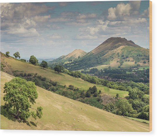 Caer Caradoc And The Lawley Wood Print by Richard Greswell