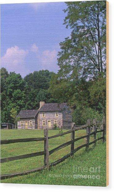 1e140 Caesar Creek Pioneer Village Photo Wood Print