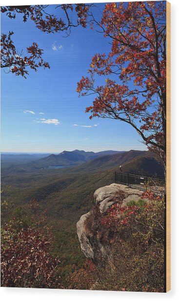 Caesars Head State Park In Upstate South Carolina Wood Print