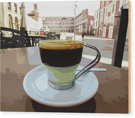 Cafe Bombon Wood Print
