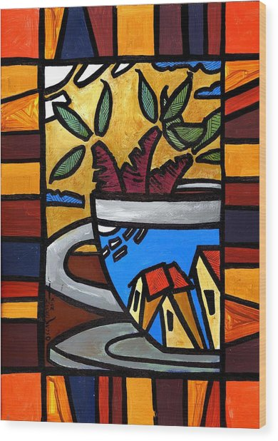 Cafe Caribe  Wood Print