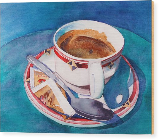 Cafe Con Leche Wood Print