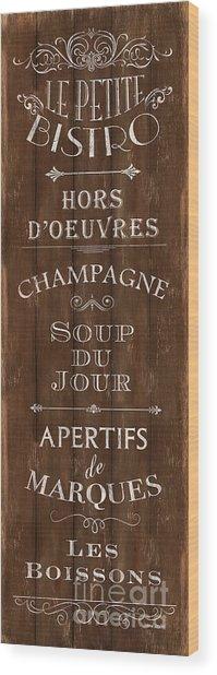 Cafe De Paris 2 Wood Print