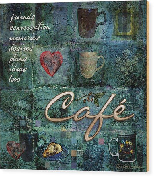 Cafe Wood Print