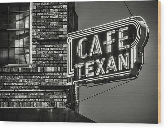 Cafe Texan Wood Print