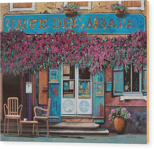 caffe del Aigare Wood Print