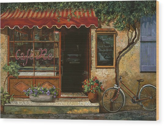 caffe Re Wood Print