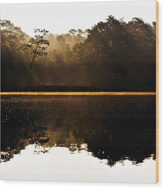 Cahooque Creek Sunrise Wood Print
