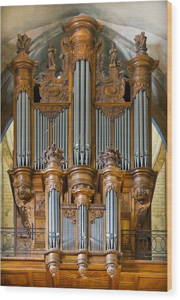 Cahors Cathedral Organ Wood Print
