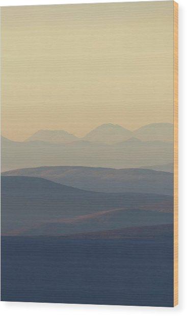 Cairngorms Sunset Wood Print
