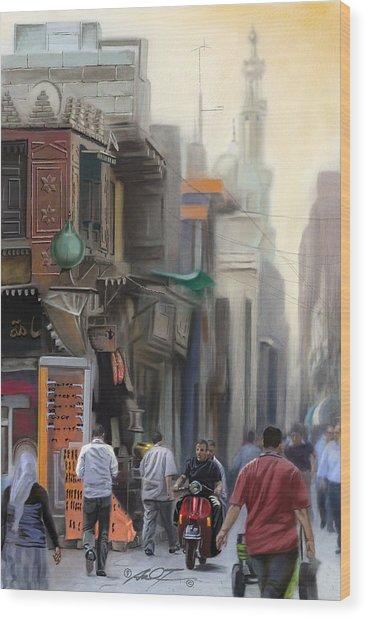Cairo Street Market Wood Print