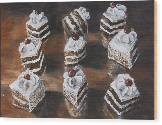 Cake Wood Print by Nik Helbig