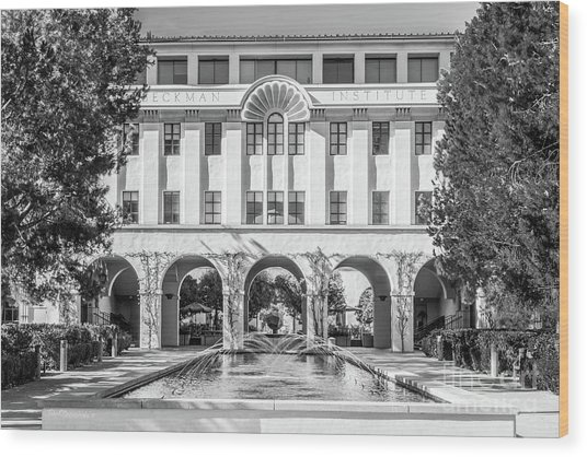 Cal Tech Beckman Institute Wood Print by University Icons