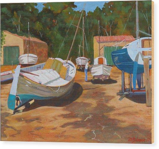 Cala Figuera Boatyard - I Wood Print