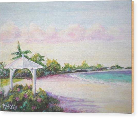 Calabash Bay Wood Print by Patricia Piffath