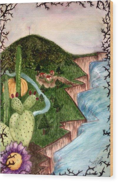 Calabazas Wood Print by Jessica  De la Torre