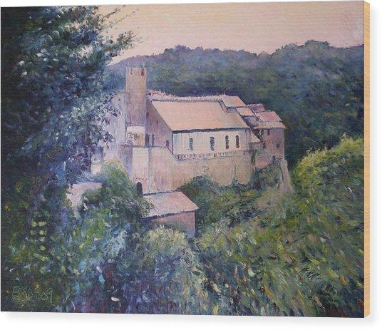 Calcata Lazio Italy 2009 Wood Print by Enver Larney
