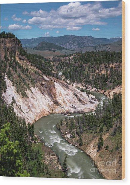 Calcite Springs Overlook  Wood Print