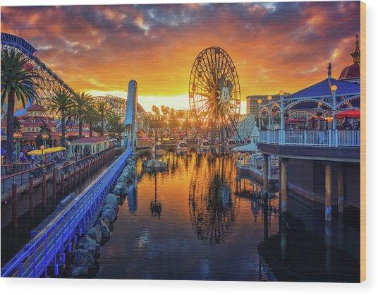 Calfornia Sunset Wood Print