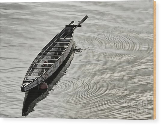 Wood Print featuring the photograph Calgary Dragon Boat by Brad Allen Fine Art