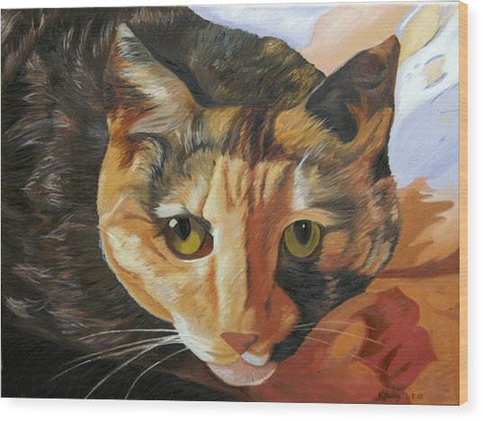 Calico Wood Print by Kenneth Young