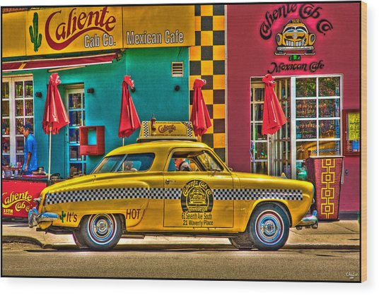 Caliente Cab Co Wood Print