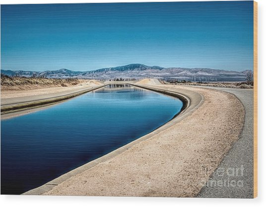 California Aqueduct At Fairmont Wood Print