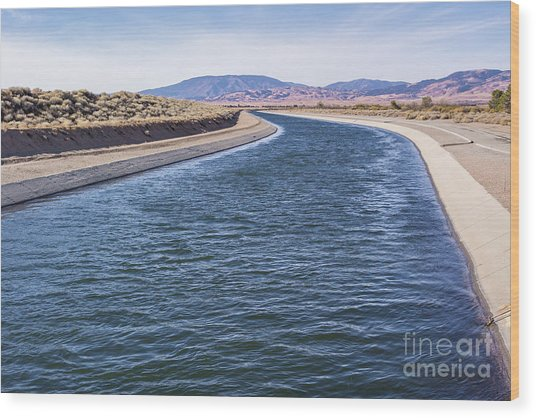 California Aqueduct S Curves Wood Print