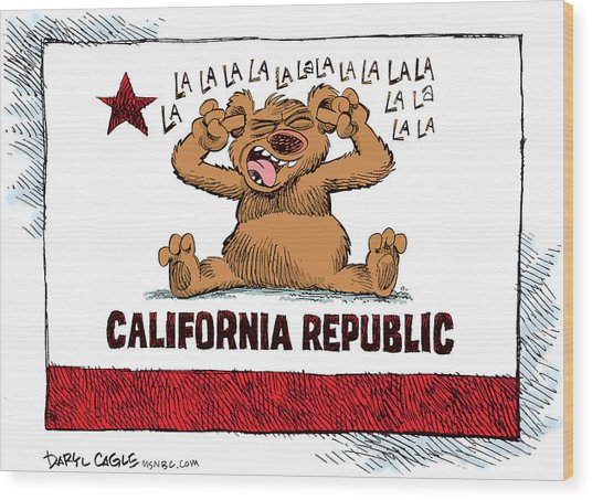 California Budget La La La Wood Print