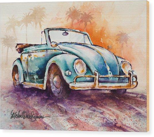 California Convertible Wood Print by Michael David Sorensen