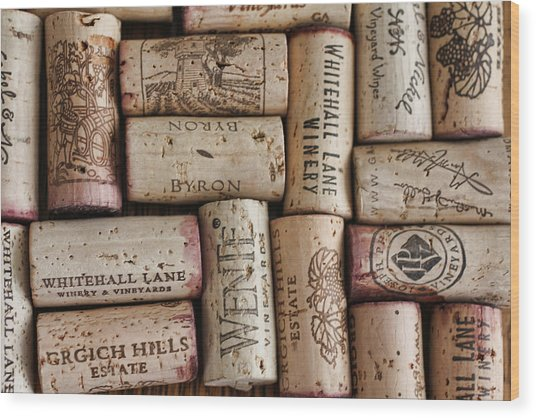 California Corks Wood Print