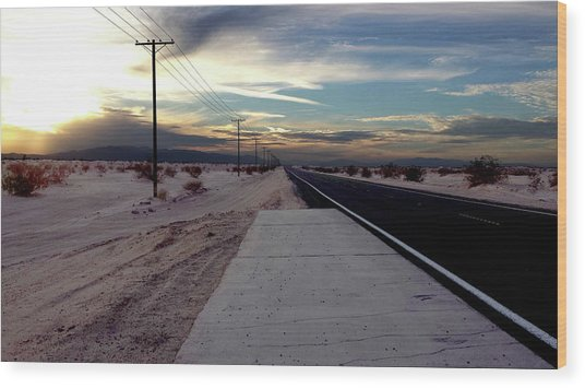 California Desert Highway Wood Print