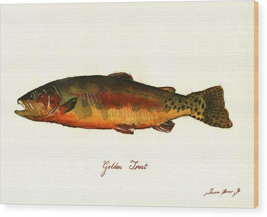 California Golden Trout Fish Wood Print