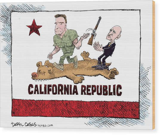 California Governor Handoff Wood Print