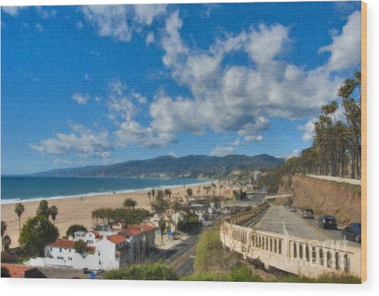 California Incline Palisades Park Ca Wood Print