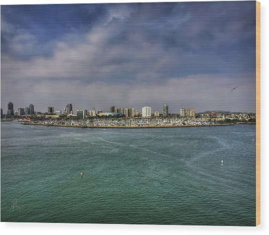 Wood Print featuring the photograph California - Long Beach 001 by Lance Vaughn