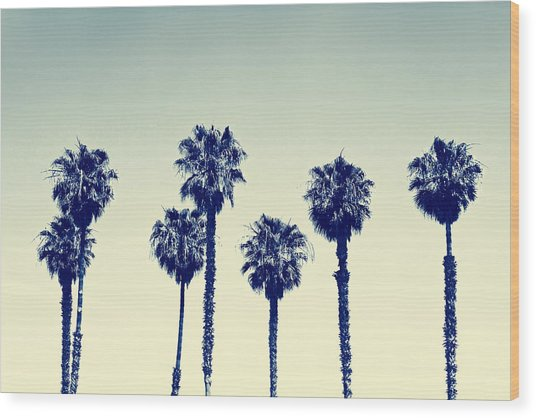 California Palm Trees Wood Print