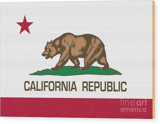 California Republic State Flag Authentic Version Wood Print