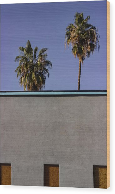California Rooftop Wood Print