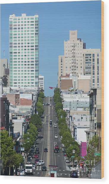 California Street San Francisco California 5d3295 Wood Print