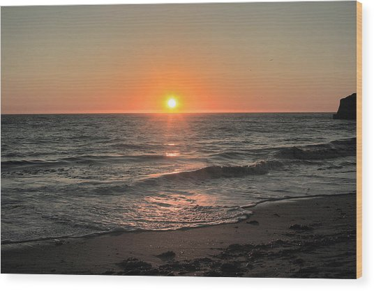 California Sunset Pacific Ocean Davenport  Wood Print by Larry Darnell